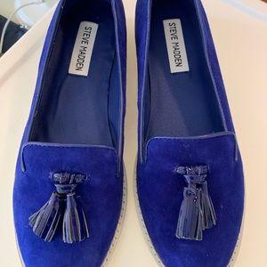 Steve Madden blue tassel loafers women SIZE 7.5